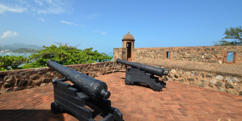 old cannons at the san felipe fort