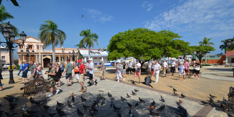 tourists flock to the old city of Puerto Plata