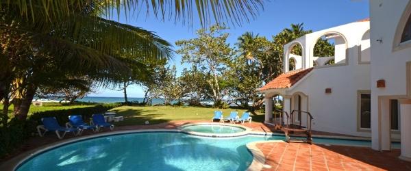 the pool by the 0243 villa has ocean views