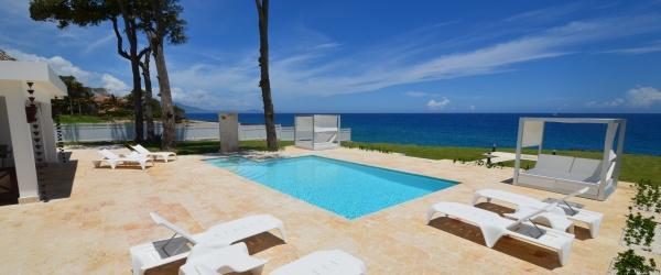 Pool deck by the ocean