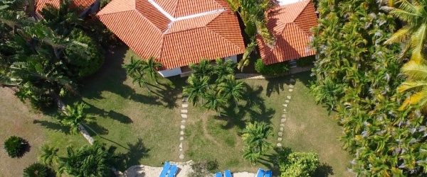 Eagle`s eye view of the villa