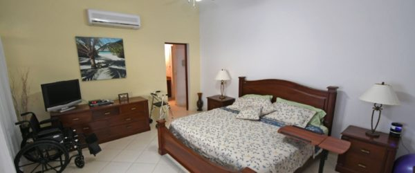 disabled friendly bedroom in the villa