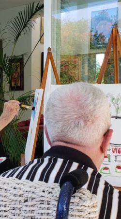 seniors vacation painting activity