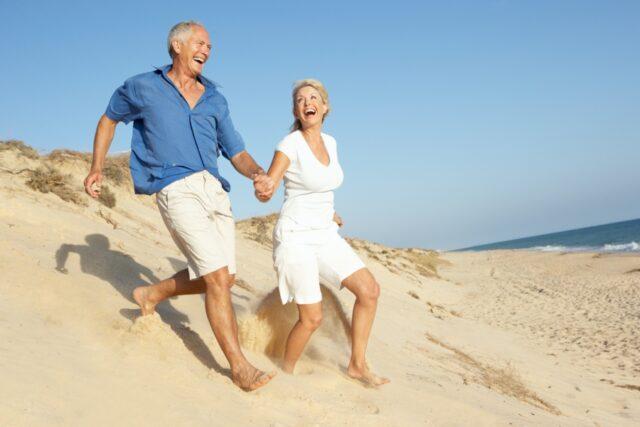 retirement couple visiting Dominican Republic
